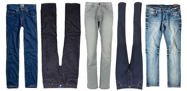 Diferentes possibilidades de lavagens e modelos fazem da calça jeans uma das peças mais democráticas do vestuário masculino - Divulgação