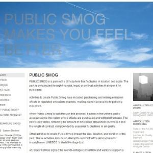 """Reprodução do site """"Public Smog"""", parte do projeto da artista plástica Amy Balkin - Reprodução/Amy Balkin"""