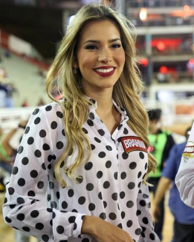 17.ago.2012 - A ex-BBB Adriana Sant´Anna marca presença no segundo dia da 57ª Festa do Peão de Barretos, no interior de São Paulo