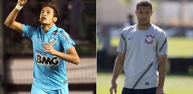 Neymar terá como marcador o lateral Guilherme, 4ª opção de Tite para o setor - Montagem com fotos Cristiano Andujar/AGIF/AE e site oficial do Corinthians