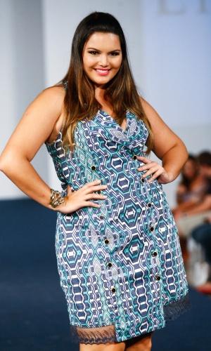 Desfile no primeiro dia do Fashion Weekend Plus Size, realizado neste sábado (18), no Centro de Convenções Frei Caneca