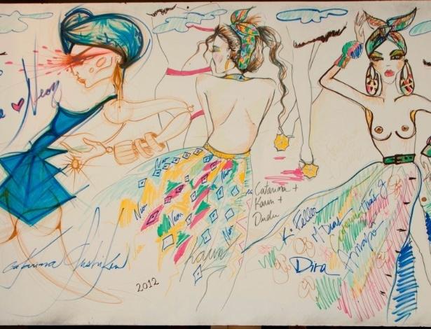 Tela criada em conjunto por Karin Feller, Catarina Gushiken e Dudu Bertholini - Divulgação