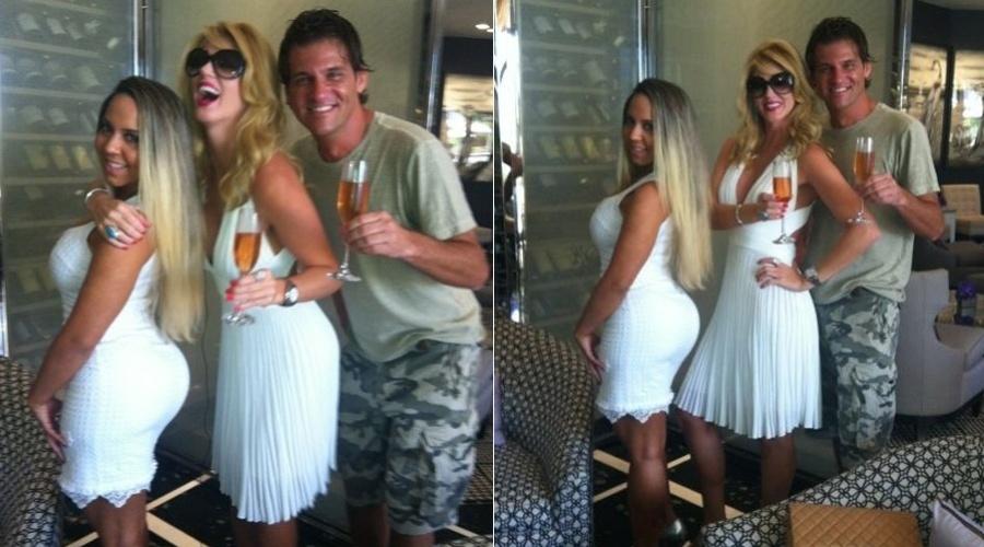 Val Marchiori e Renata Frisson, a Mulher Melão, estão em Miami, nos Estados Unidos (20/8/12)