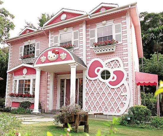 Aaaah, que fofura esta casa da Hello Kitty... #not!