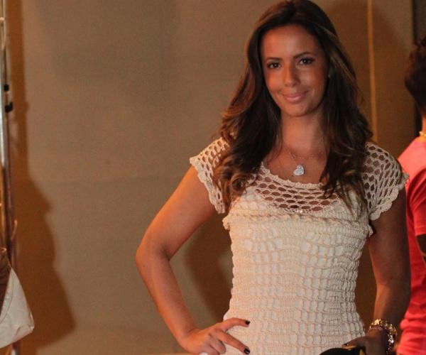 A jornalista Paloma Tocci, da Bandeirantes, acompanhou de perto a festa de Lucas