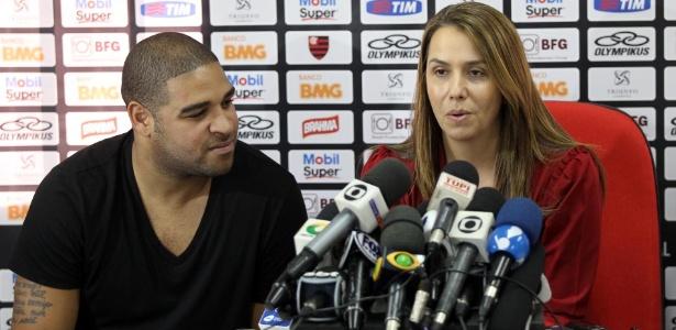 Adriano não recebeu a quantia prometida pela presidente Patricia Amorim em contrato - Alexandre Vidal/Fla Image,