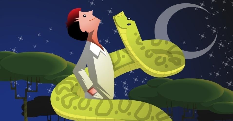 Cobra Norato, Cobra Grande ou Boiúna, lenda do folclore brasileiro