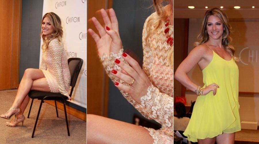 Giovanna Ewbank participou do desfile de uma grife de roupas femininas em um shopping do Rio (22/8/12)