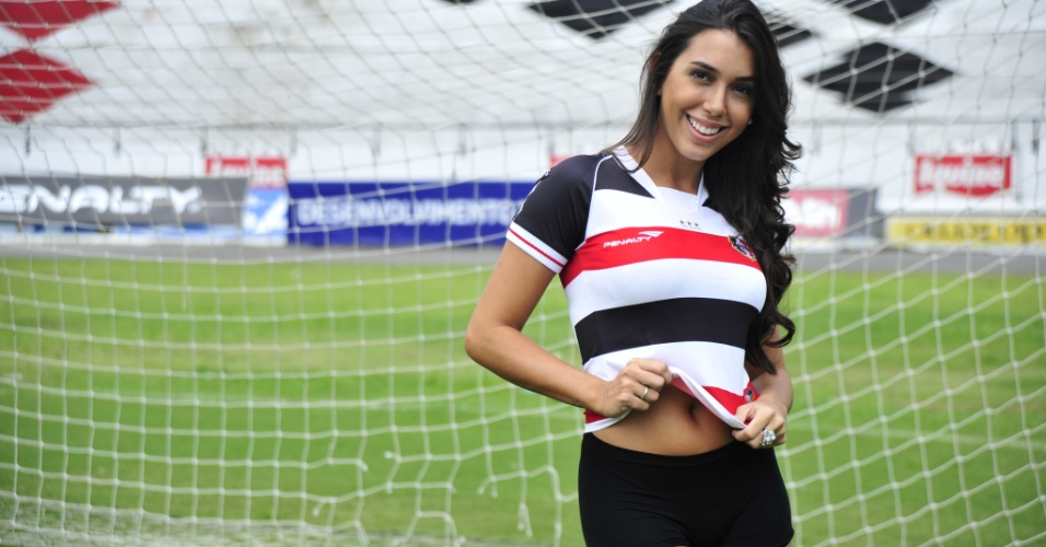 Samantha Diniz, a bela do Santa Cruz