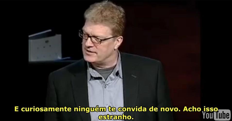 """2º lugar: Do curso de """"Criatividade na Resolução de Problemas"""", a segunda aula mais vista é """"Escolas matam a criatividade"""", de Ken Robinson"""