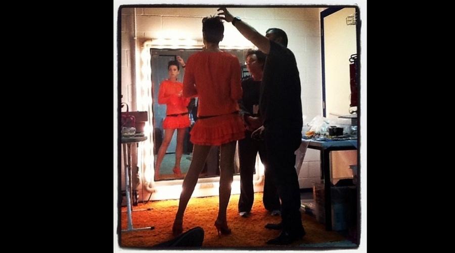 """Após ficar morena. Xuxa voltou a gravar o """"Programa da Xuxa"""" (23/8/12)"""