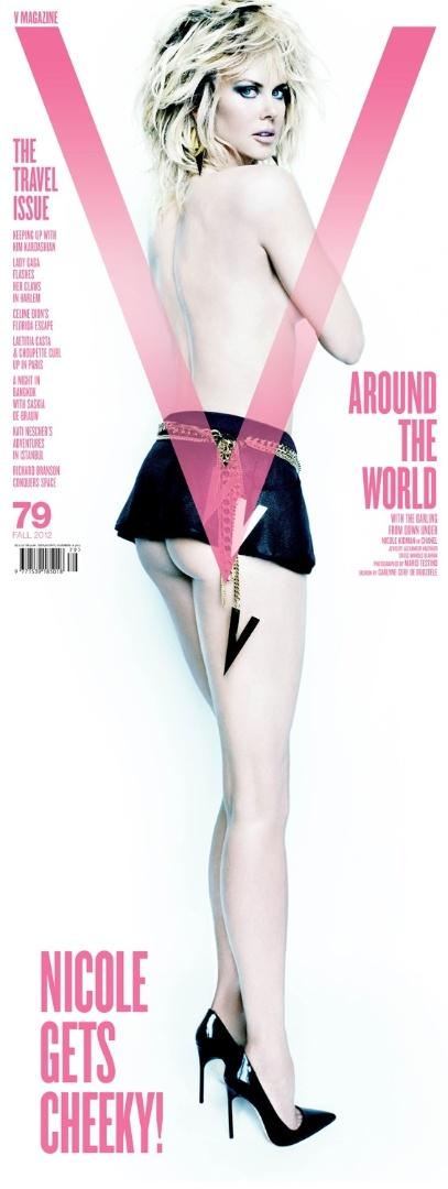 "Nicole Kidman posa para a capa da ""V Magazine"" (23/8/2012)"