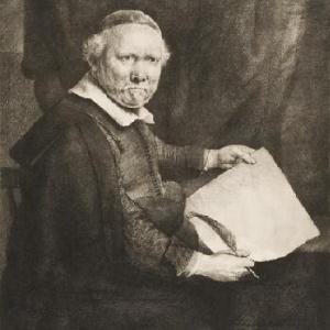 Pintura de Remb Lieven Willemsz van Coppenol, de Rembrandt, perdida no correio norueguês - Reprodução
