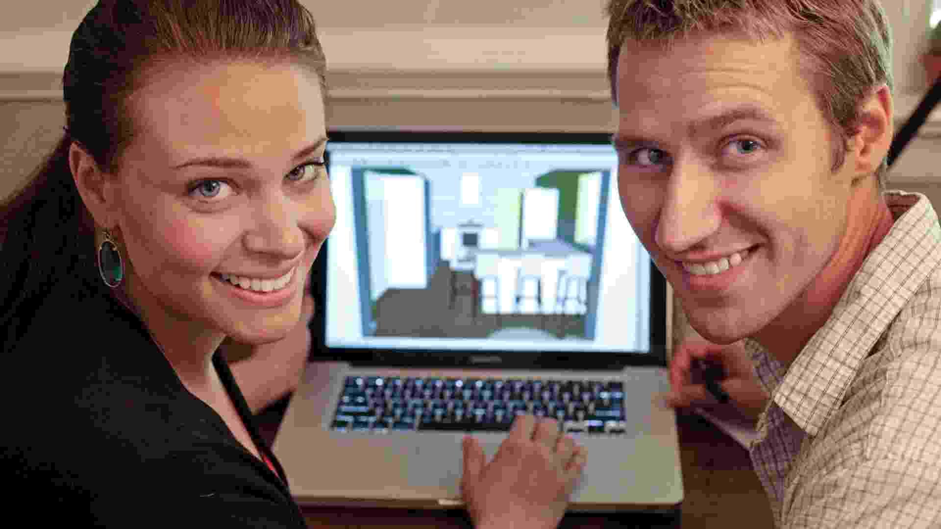 Sherry e John Petersik usaram programas de computador para desenvolver a reforma de sua cozinha. (Imagem do NYT, usar apenas no respectivo material) - Jay Paul/The New York Times
