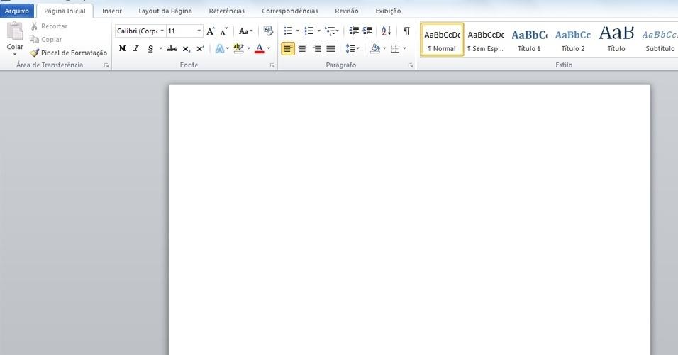 1 ? Abra o Microsoft Word 2010