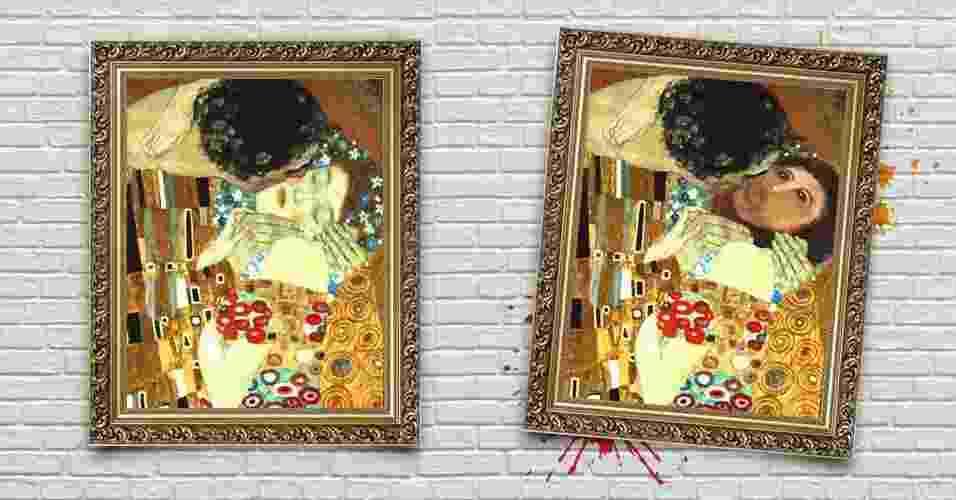 """""""O Beijo"""", de Gustav Klimt - Arte/UOL"""