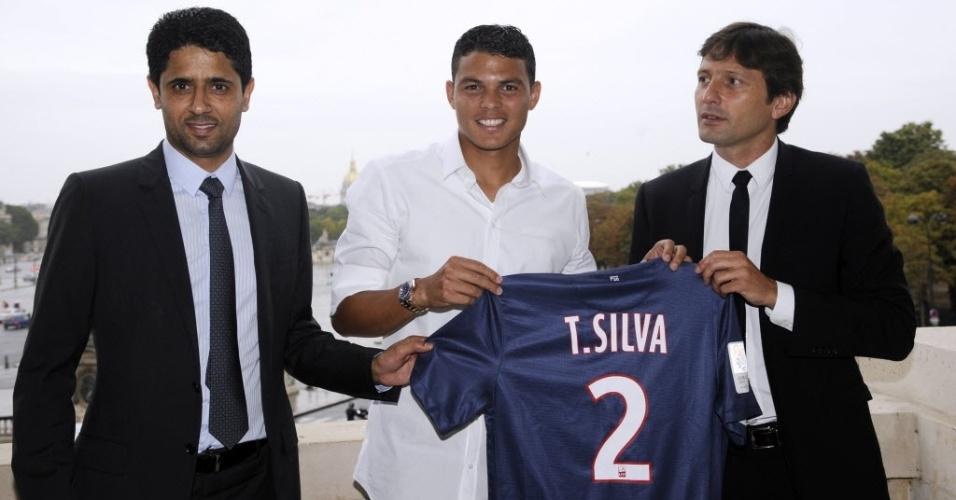 Thiago Silva é apresentado oficialmente pelo PSG nesta sexta-feira