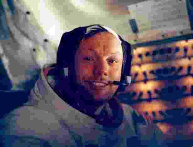 20.jul.1969 ? Foto de Neil Armstrong, o primeiro astronauta a pisar na lua, tirada dentro da nave Apollo 11 - Efe/Nasa