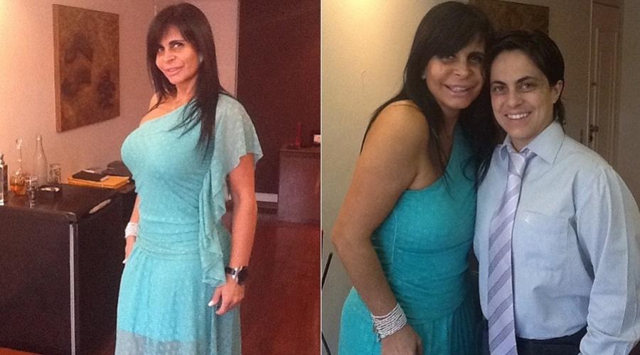 Gretchen divulgou imagens do casamento da filha, Jenifer, por meio de sua página do Twitter (25/8/12)