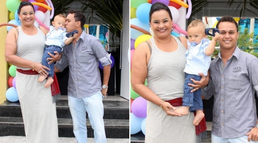 Com tema circense, a atriz Solange Couto comemora aniversário de um ano do seu filho, Benjamin, na Barra da Tijuca, no Rio. O menino é filho de Solange com o estudante Jamerson Andrade (26/08/2012)