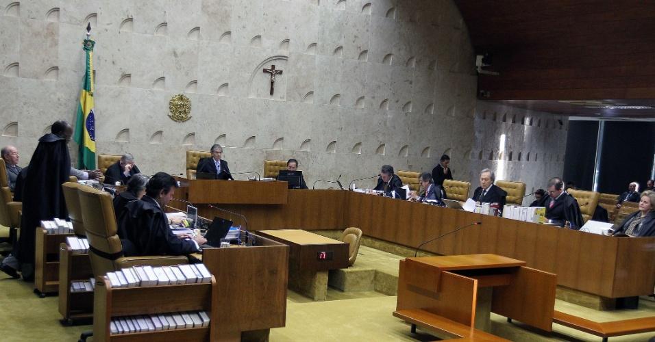27.ago.2012 - Plenário do STF durante julgamento do mensalão, nesta segunda-feira