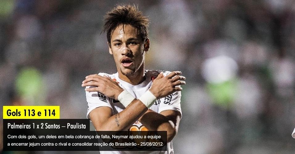 Com dois gols, um deles em bela cobrança de falta, Neymar ajudou a equipe a encerrar jejum contra o rival e consolidar reação no Brasileirão - 25/08/2012
