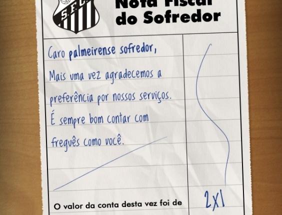 Corneta FC: Compartilhe a nota fiscal do palmeirense sofredor