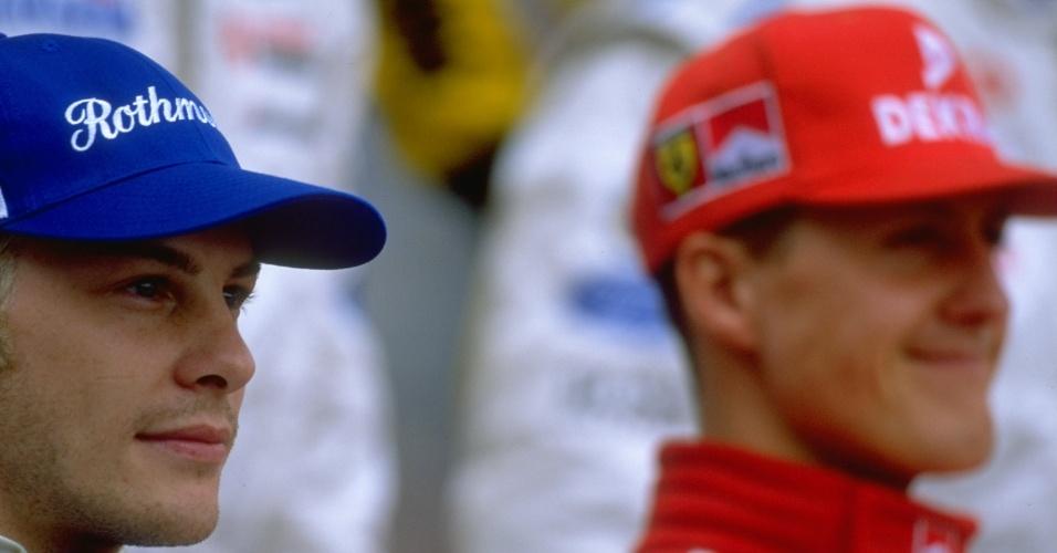 Jacques Villeneuve e Michael Schumacher em 1997