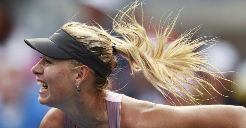 Maria Sharapova teve estreia tranquila no Aberto dos EUA e venceu Melinda Cznik por 2 sets a 0 (duplo 6-2)