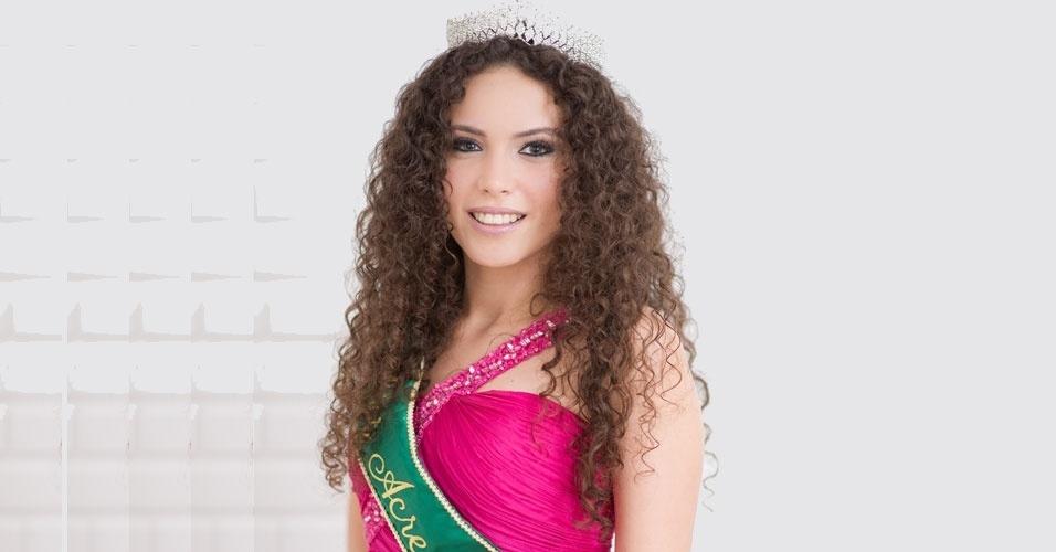 Miss Acre, Jéssica Maia, 19, 1,80 m, representou Rio Branco