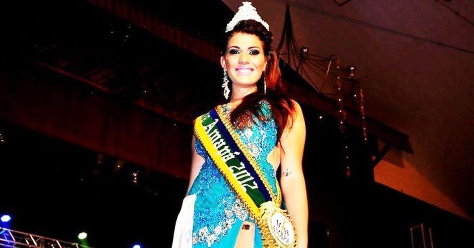 Miss Amapá, Vanessa Pereira, 23, 1,78 m, representou Serra do Navio