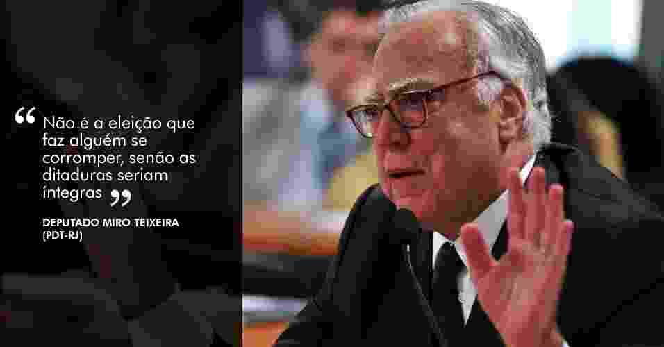 """28.ago.2012 - """"Não é a eleição que faz alguém se corromper, senão as ditaduras seriam íntegras"""", disse o deputado Miro Teixeira (PDT-RJ) - Agência Câmara"""