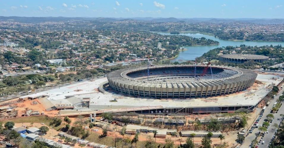A reforma no Mineirão chegou a 78% dos trabalhos concluídos na última semana de agosto de 2012
