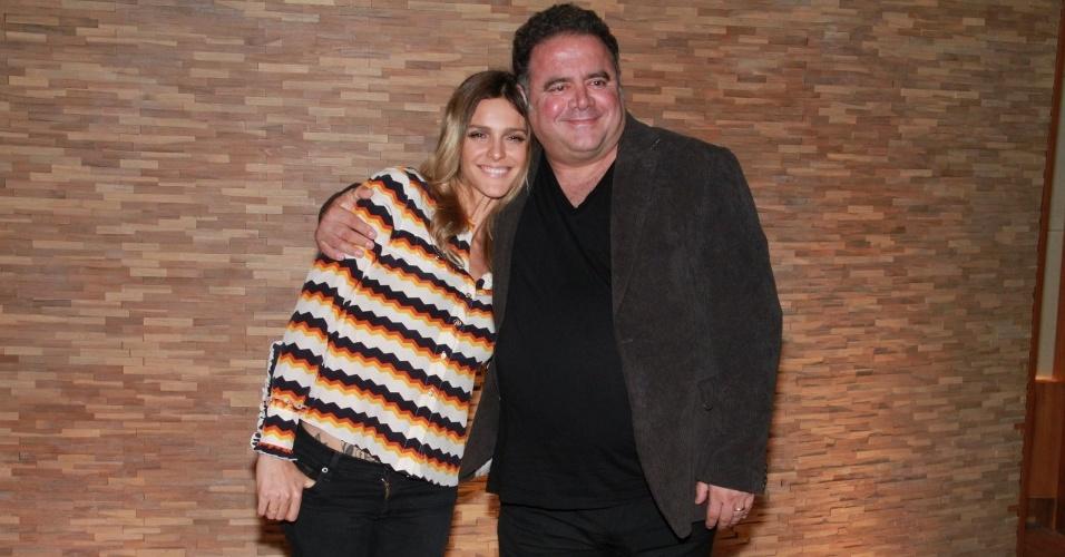 Fernanda Lima e Leo Jaime participaram nesta terça de uma coletiva para promover a nova temporada do programa