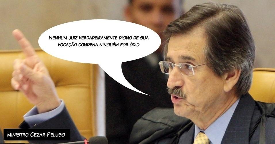 """29.ago.2012 - """"Nenhum juiz verdadeiramente digno de sua vocação condena ninguém por ódio"""", afirmou o ministro Cezar Peluso ao se despedir da Corte; ele se aposenta no dia 3 de setembro"""