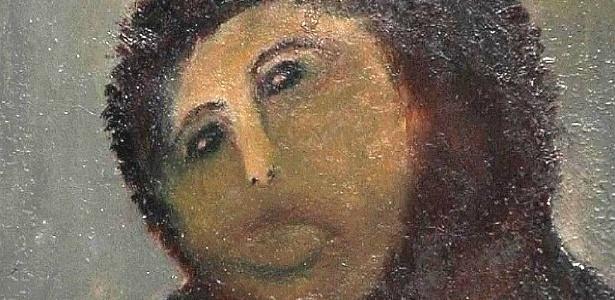 """A pintura Ecce Homo """"restaurada"""" pela espanhola Cecilia Giménez - Reprodução"""