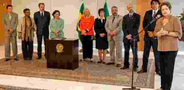 A presidente Dilma Rousseff discursa após assinar lei de cotas em universidades - Roberto Stuckert Filho/PR