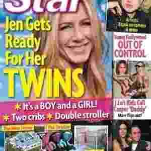"""A revista """"Star"""" noticiou que Aniston estava grávida de gêmeos: um menino e uma menina - Reprodução/Star"""