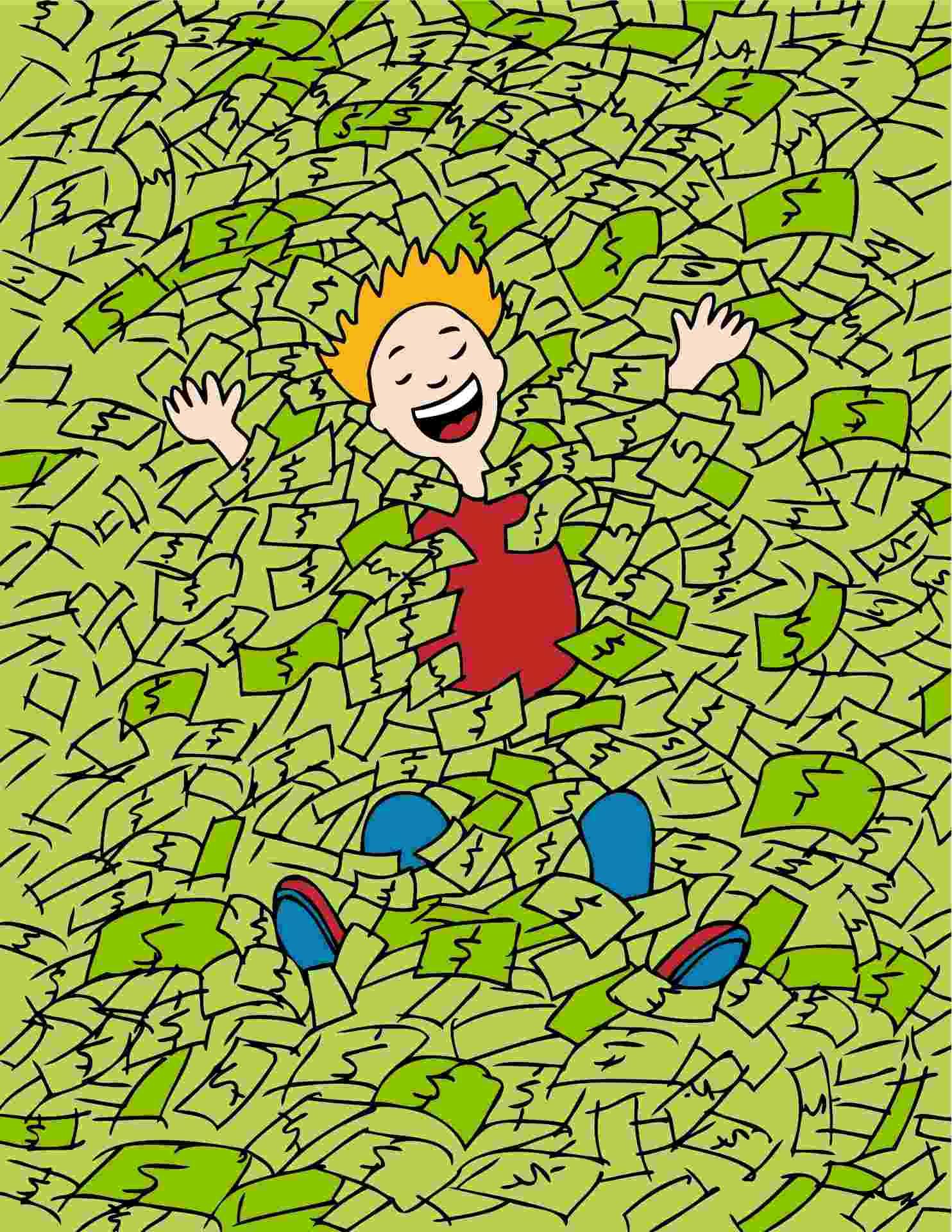 dinheiro; felicidade; riqueza - Thinkstock