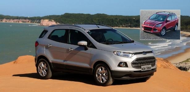 Novo EcoSport com Kuga/Escape em destaque. Qual dos dois é mesmo o SUV compacto global da Ford? - Murilo Góes/UOL e Divulgação