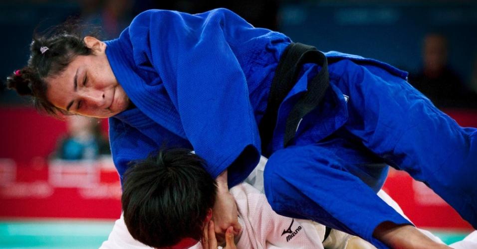 Judoca brasileira Karla Ferreira derrotou a chinesa Xiaoli Huang na categoria até 48kg dos Jogos Paraolímpicos de Londres