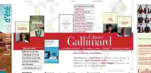 Site da editora francesa Gallimard (ago/12) - Reprodução/Gallimard.fr