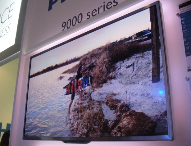 TV 3D de LED da série 9000, da Philips