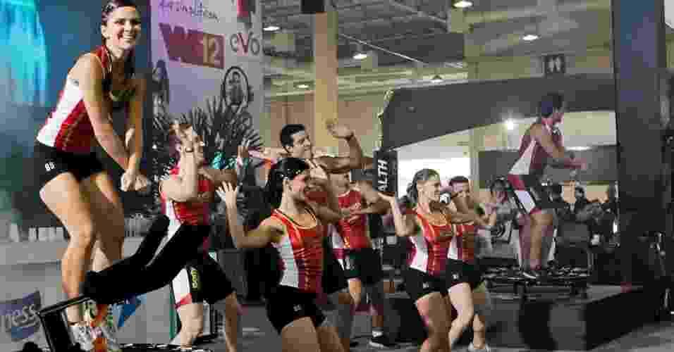 A Body Systems deu aulas show com base em seus diversos programas, como o Body Step, Body Pump e Power Jump - Fernando Donasci/UOL
