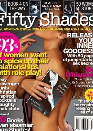 """Capa da revista inspirada no livro """"50 Shades of Grey"""" - Reprodução"""