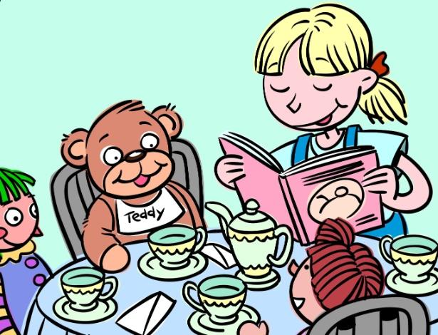 Os amigos imaginários, as brincadeiras com bonecos e fantoches, os desenhos, e todo o mundo da representação surgem por volta dos dois anos e não param mais - Thinkstock