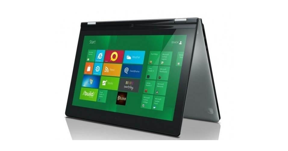 Já o Lenovo Yoga 13, como o nome sugere, é capaz de um certo contorcionismo: pode ser usado na posição notebook ou ser completamente rotacionado para virar um conjunto único na posição de tablet. O Lenovo Yoga 13 usa sistema Windows 8, tem tela de 13 polegadas, 1,69 mm de espessura e 1,4 kg. O tabletbook será lançado com processadores Intel (core i3, i5 ou i7)