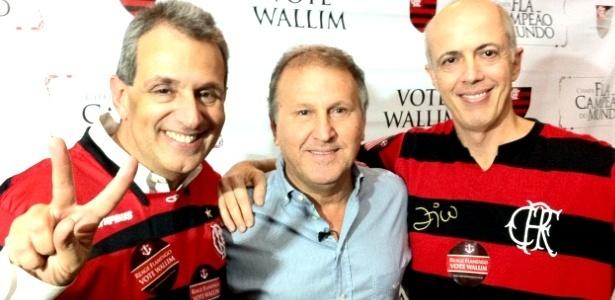 Wallin Vasconcellos (D), apoiado por Zico (C), é um dos opositores de Patricia no Fla