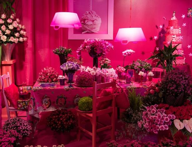 Ambiente montado por Gerard Aziakou para a 31ª edição da Expoflora, em Holambra, interior de SP  - AFP/Yasuyoshi Chiba