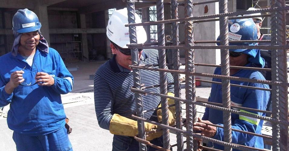 Andrés Sanchez se divertiu na construção do Itaquerão
